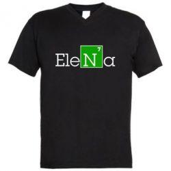 Мужская футболка  с V-образным вырезом Elena - FatLine