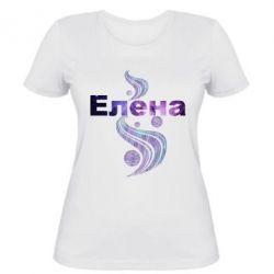 Женская футболка Елена