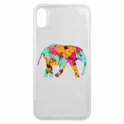 Чохол для iPhone Xs Max Elephant and flowers