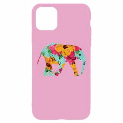 Чохол для iPhone 11 Pro Max Elephant and flowers