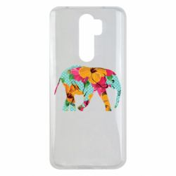 Чохол для Xiaomi Redmi Note 8 Pro Elephant and flowers