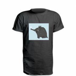 Подовжена футболка Elephant and snowflakes