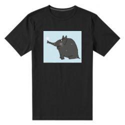 Чоловіча стрейчева футболка Elephant and snowflakes