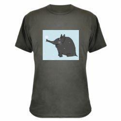 Камуфляжна футболка Elephant and snowflakes