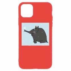 Чохол для iPhone 11 Elephant and snowflakes