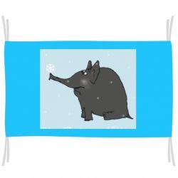 Прапор Elephant and snowflakes