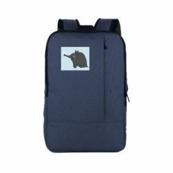 Рюкзак для ноутбука Elephant and snowflakes