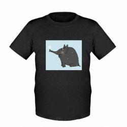 Дитяча футболка Elephant and snowflakes