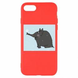 Чохол для iPhone 8 Elephant and snowflakes
