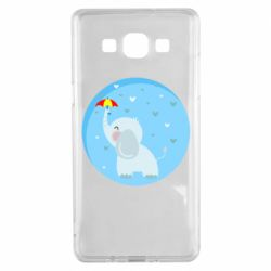 Чехол для Samsung A5 2015 Elephant and umbrella