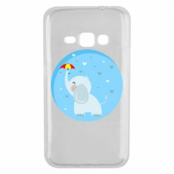 Чехол для Samsung J1 2016 Elephant and umbrella