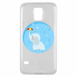 Чехол для Samsung S5 Elephant and umbrella