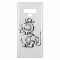 Чехол для Samsung Note 9 Elephant family