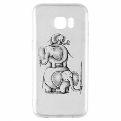 Чехол для Samsung S7 EDGE Elephant family