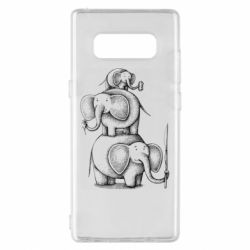 Чехол для Samsung Note 8 Elephant family