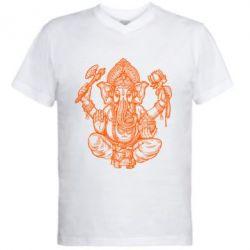 Купить Мужская футболка с V-образным вырезом Elephant of India, FatLine