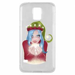 Чехол для Samsung S5 Elf girl