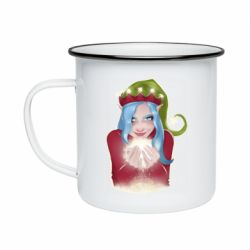 Кружка эмалированная Elf girl