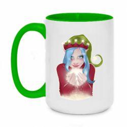 Кружка двухцветная 420ml Elf girl