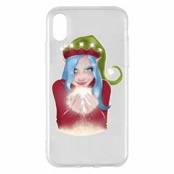 Чехол для iPhone X/Xs Elf girl