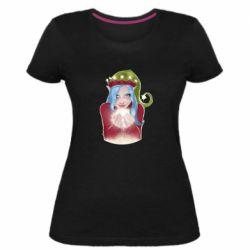 Женская стрейчевая футболка Elf girl