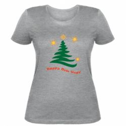 Жіноча футболка Ялинка з іскрами