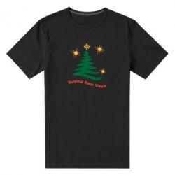 Чоловіча стрейчева футболка Ялинка з іскрами