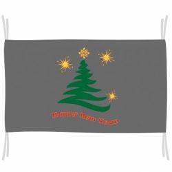 Прапор Ялинка з іскрами