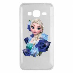 Чохол для Samsung J3 2016 Elsa and roses