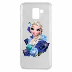 Чохол для Samsung J6 Elsa and roses