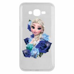 Чохол для Samsung J7 2015 Elsa and roses