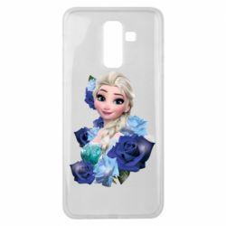 Чохол для Samsung J8 2018 Elsa and roses