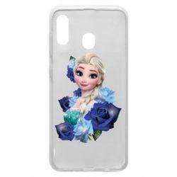 Чохол для Samsung A20 Elsa and roses
