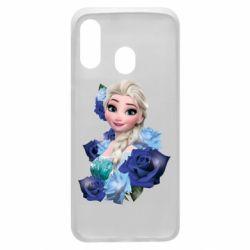 Чохол для Samsung A40 Elsa and roses