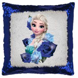 Подушка-хамелеон Elsa and roses
