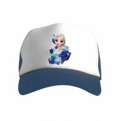 Дитяча кепка-тракер Elsa and roses