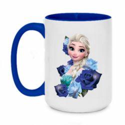 Кружка двоколірна 420ml Elsa and roses