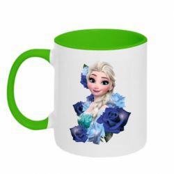 Кружка двоколірна 320ml Elsa and roses