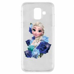 Чохол для Samsung A6 2018 Elsa and roses