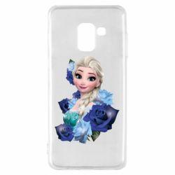 Чохол для Samsung A8 2018 Elsa and roses