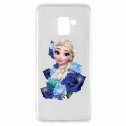 Чохол для Samsung A8+ 2018 Elsa and roses