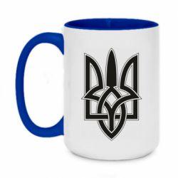 Кружка двоколірна 420ml Emblem  16
