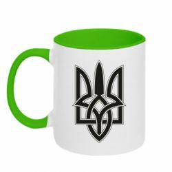 Кружка двоколірна 320ml Emblem  16