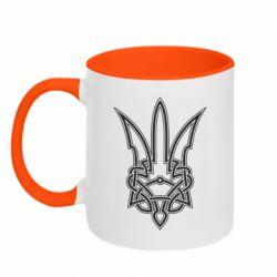 Кружка двоколірна 320ml Emblem 18