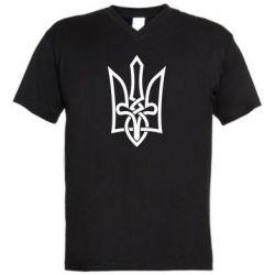 Мужская футболка  с V-образным вырезом Emblem 22
