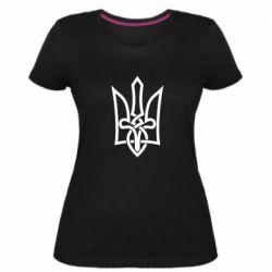 Женская стрейчевая футболка Emblem 22