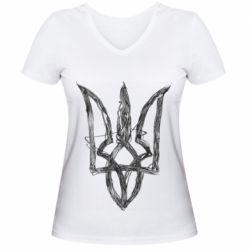 Жіноча футболка з V-подібним вирізом Emblem 7