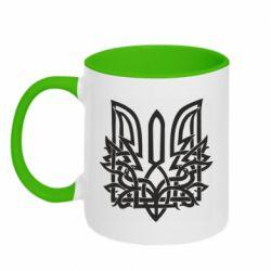 Кружка двоколірна 320ml Emblem 9