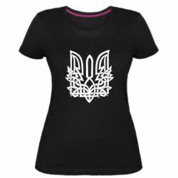 Жіноча стрейчева футболка Emblem 9