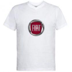 Чоловіча футболка з V-подібним вирізом Emblem Fiat